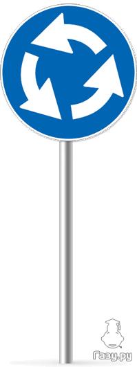 Знак 4.3 Круговое движение